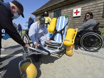 All-terrain wheelchair added to Greenwich beach