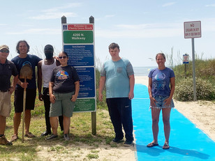 Volunteers install and fund wheelchair mats at beach accesses in North Myrtle Beach
