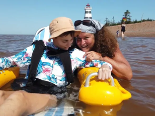Feeling waves for first time: Floating wheelchairs big hit on P.E.I. beaches