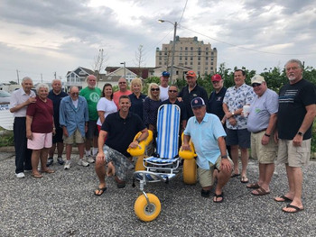 City gets money for, dedicates new beach wheelchair