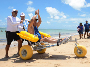 Floating wheelchairs available at Corpus Christi beaches