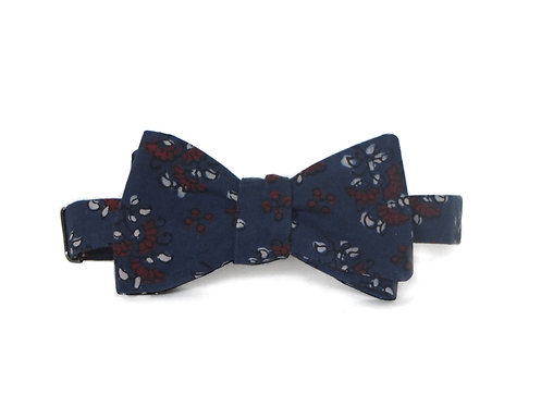 Navy + Brick Vegetable Dyed Bow Tie || 100% Cotton