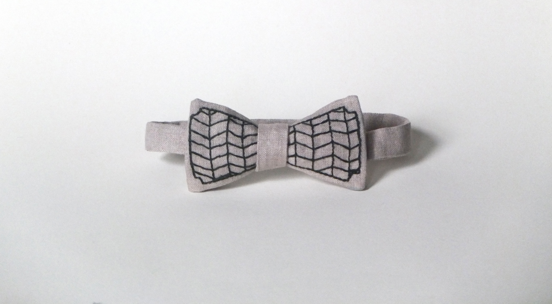 hand-embroidered bow tie