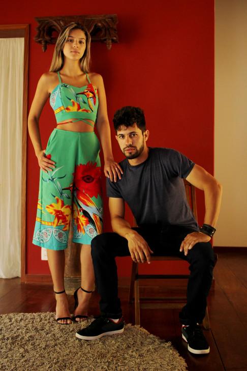 Gabriela Marchiori e Deivissom Azine