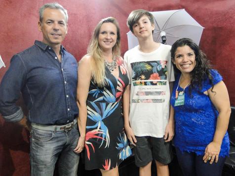 Valentino e família