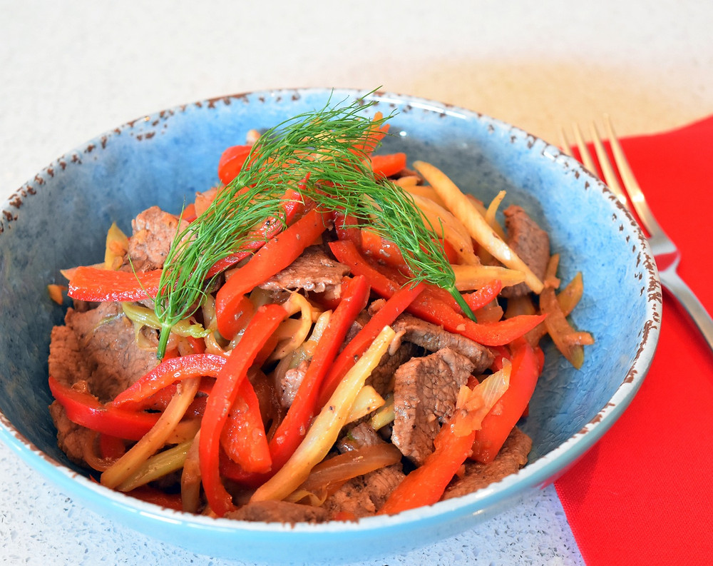beef fennel stirfry