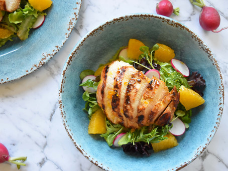 Spring Salad with Citrus-Marinated Chicken