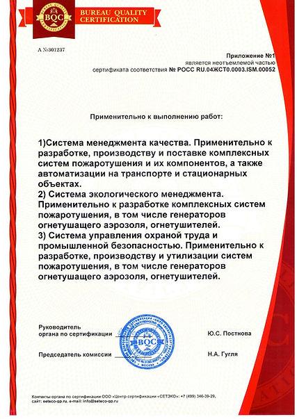 Сертификат НПО менеджмент качества, экол