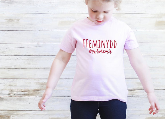 Ffeminydd Tshirt - plant (embroidered)