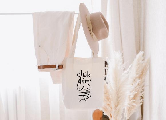 Tote Bag 'Clwb Dim Bra'