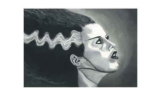 """Bride of Frankenstein"" art print"