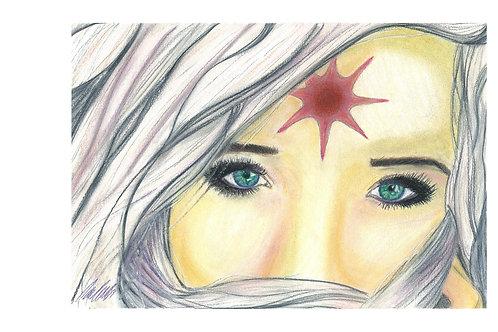 """Lady Amalthea"" art print"