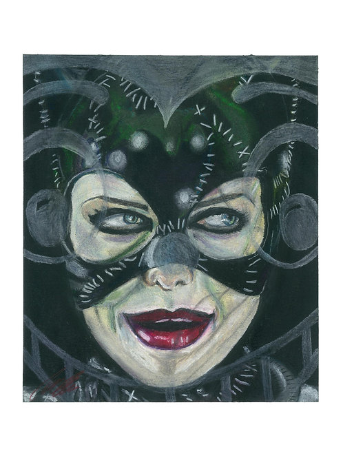 """Catwoman"" art print"