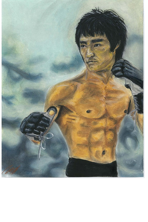 """Bruce Lee"" art print"