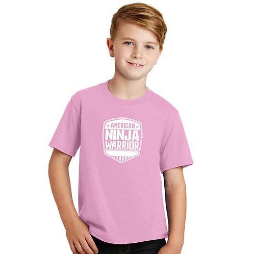 American Ninja Warrior Kids Pink T-Shirt