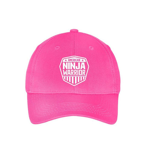 American Ninja Warrior Youth Embroidered Hat - Pink