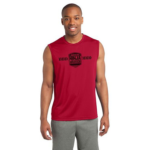 American Ninja Warrior Men's Red Sleeveless Performance Shirt
