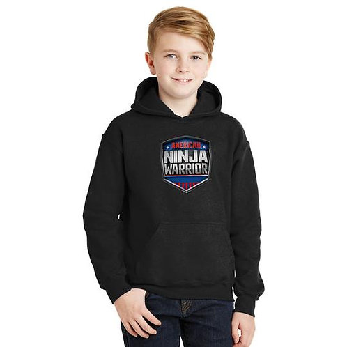 American Ninja Warrior Kids Hoodie - Black