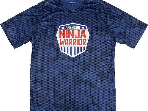 American Ninja Warrior Kids Blue Camo Performance T-Shirt