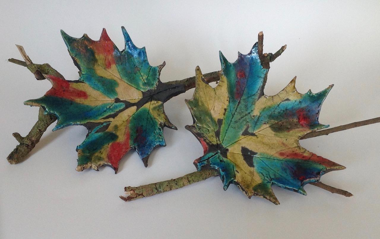 Leaf Fall 1 and Leaf Fall 2by Joan Green