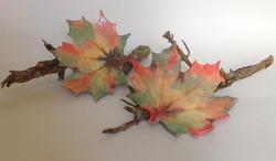 Leaf Fall 3 and Leaf Fall 4 by Joan Green
