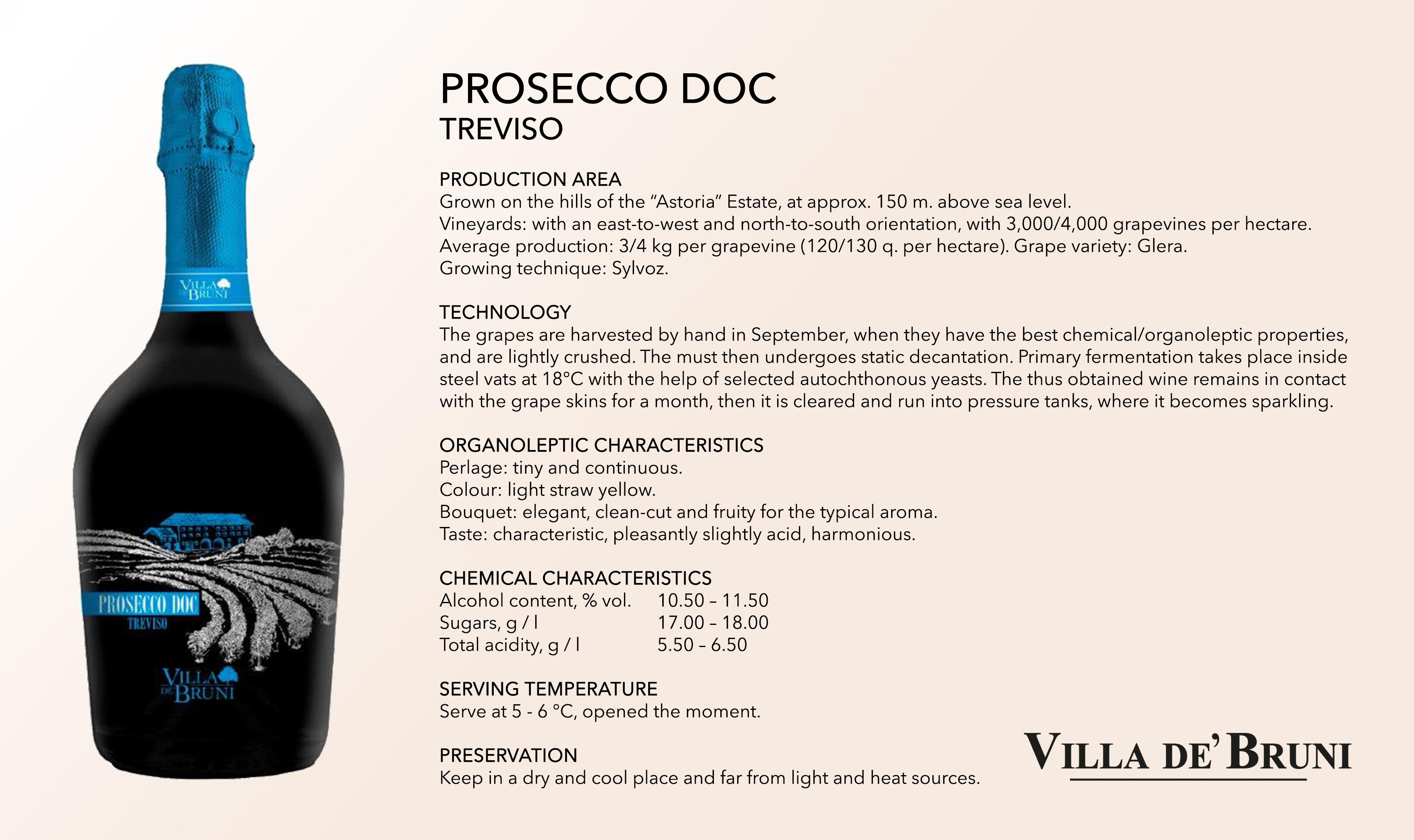 Villa De' Bruni - PROSECCO DOC TREVISO