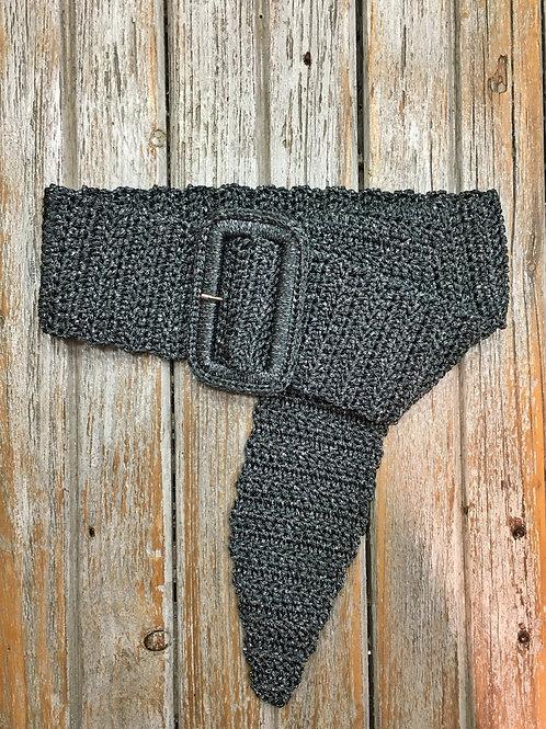 Cintura in cordino grigio