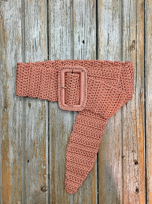 Cintura in cordino rosa