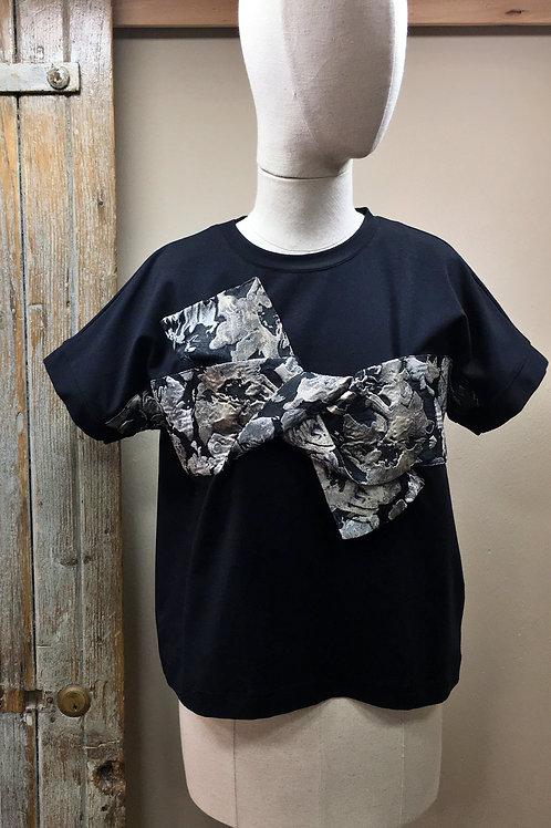 T-shirt kimono con fiocco