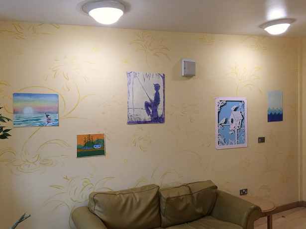 Phoenix Unit Mural - all artwork painted directly onto the walls