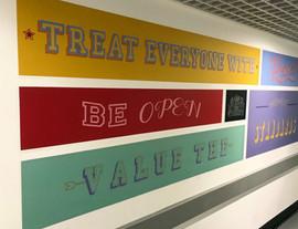 Core Values comission  Royal Opera House  Green core corridor area