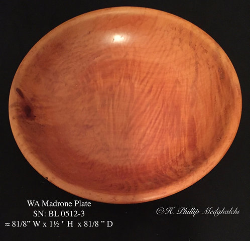 Madrone plate  (Humming bird)