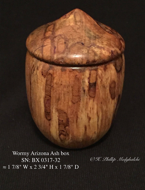 32- Wormy Arizona Ash  box