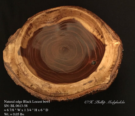 58- Natural edge Black Locust bowl