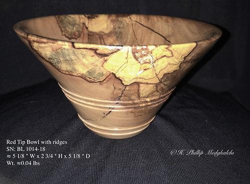 Spalted Red tip bowl (steps)