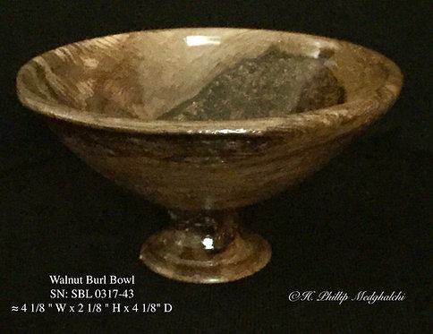43-Walnut Burl bowl