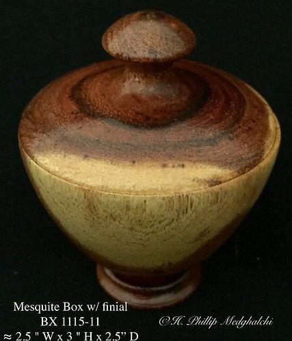 11 - Mesquite box w/ finial
