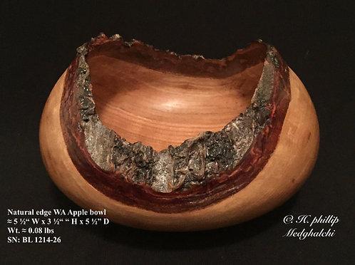 Natural edge Washington Apple bowl