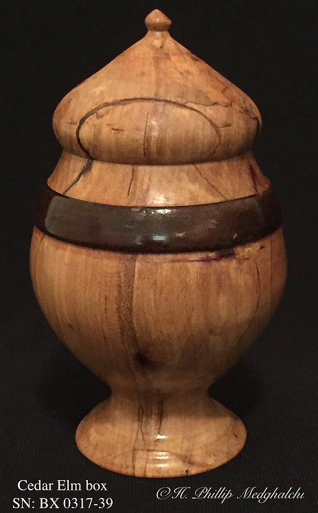 Cedar Elm embellished with walnut ring box