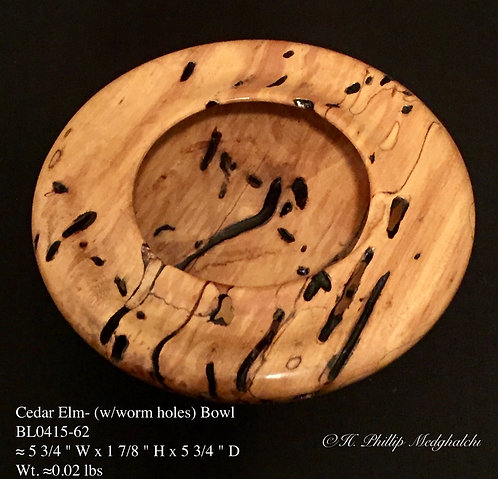 62- Cedar Elm bowl (with worm holes)