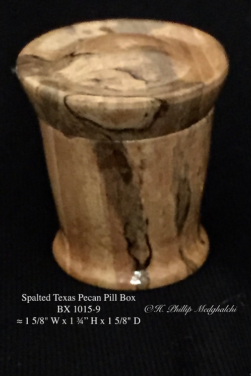 9- Spalted Texas Pecan pill Box