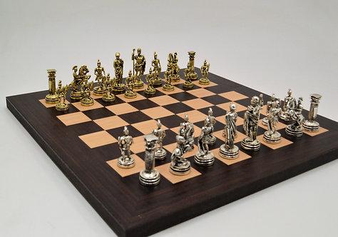 Roman Empire Chess Set - Wooden Board