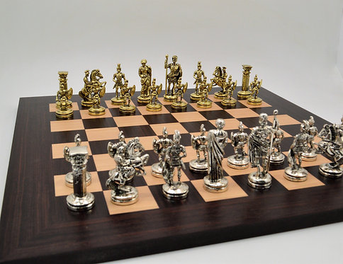 Roman Empire Chess Set- Wooden Board