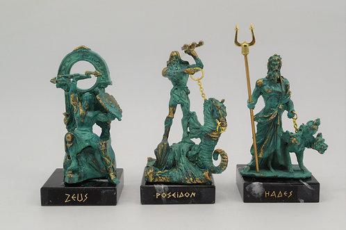 Zeus, Poseidon and Hades - teal