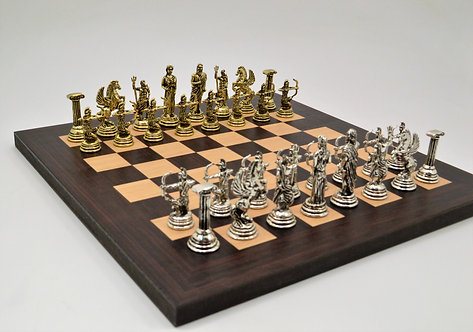 Archers Chess Set - Wooden Board