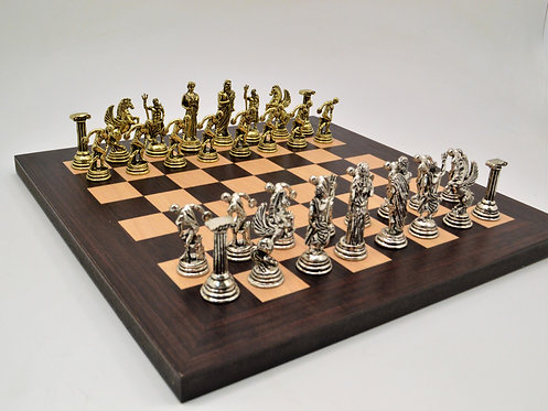 Discobolus Chess Set - Wooden Board