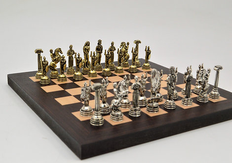 Athena MINI Chess Set - Wooden Board