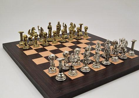 Atlas Chess Set - Wooden Board