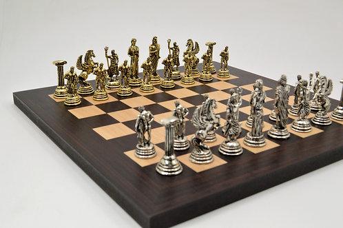 Hercules Chess Set - Wooden Board