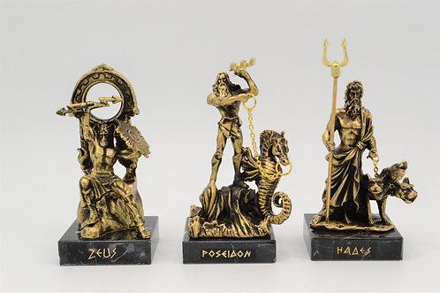 Zeus Poseidon Hades Antique Bronze